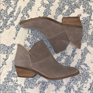 Lucky Brand Slip On Suede Ankle Booties